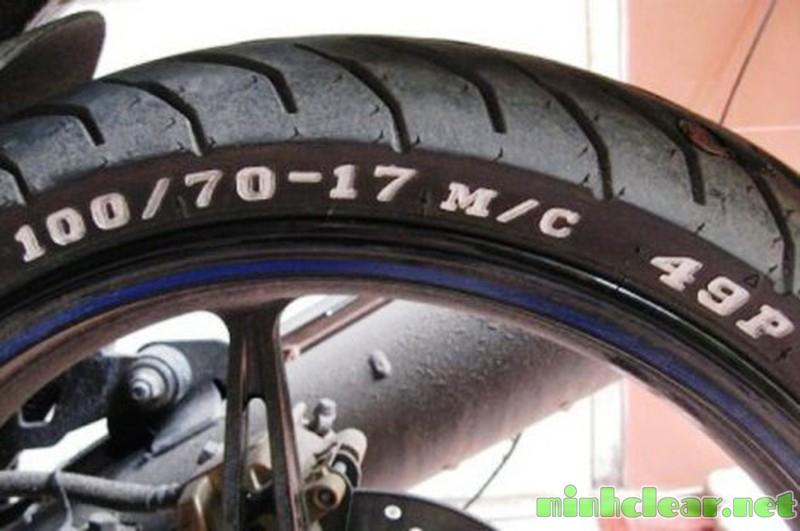 Hình ảnh các kí hiệu trên lốp xe máy
